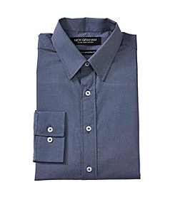 Nick Graham® Navy Pindot Dress Shirt