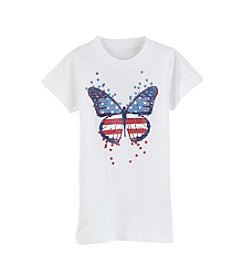 Exertek® Girls' 2T-6X Americana Butterfly Tee