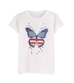 Exertek® Girls' 7-16 Americana Butterfly Tee