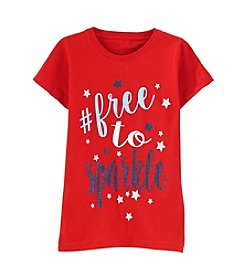 Exertek® Girls' 7-16 Americana Free to Sparkle Tee