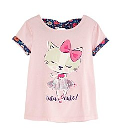 Mix & Match Girls' 2T-6X Bow Back Tee
