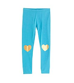 Mix & Match Girls' 4-6X Heart Knee Patch Leggings