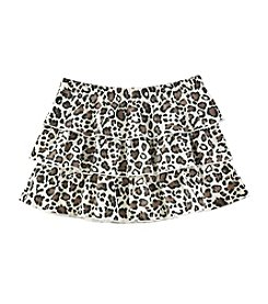 Mix & Match Girls' 4-6X Tiered Leopard Skirt