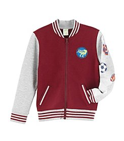Mix & Match Boys' 2T-8 Zip Patch Bomber Jacket