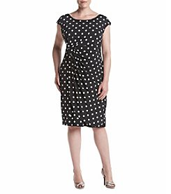 Connected® Plus Size Dot Matte Jersey Dress