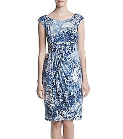 Connected® Side Ruch Sheath Dress