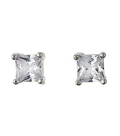 BT-Jeweled Clear Cubic Zirconia Earrings