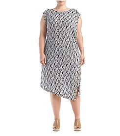 MICHAEL Michael Kors® Plus Size Printed Asymmetrical Hem Dress