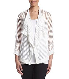 Jones New York® Shadow Stripe Cardigan