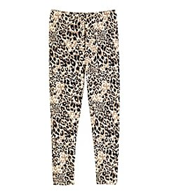 Miss Attitude Girls' 7-16 Leopard Print Leggings
