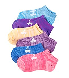 Under Armour® Girls' 6-Pack Twist No Show Socks