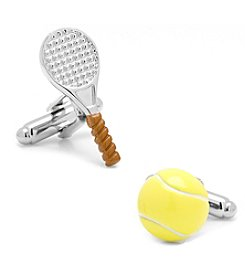Cufflinks Inc. 3D Tennis Ball and Racket Cufflinks