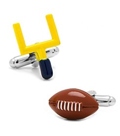Cufflinks Inc. 3D Football and Goal Post Cufflinks