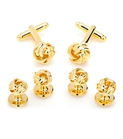Cufflinks Inc. Gold Knot Cufflinks and Stud Set
