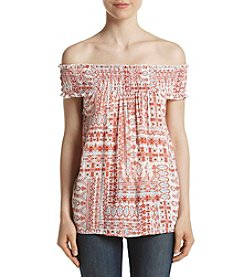 Hippie Laundry Smocked Off-Shoulder Top