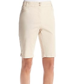 Briggs New York® Stretch Twill Fly Front Skimmer