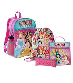 Disney® Princess Five Piece Backpack Set