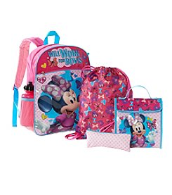 Disney® Minnie Mouse Five Piece Backpack Set