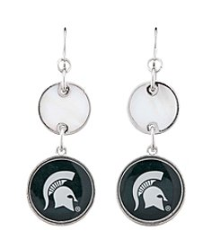 accessory PLAYS™ NCAA® Michigan State Spartans Logo Drop Earrings