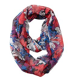 Collection 18 Graphic Floral Loop Scarf
