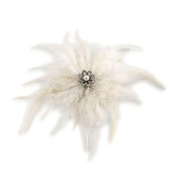 Carolee® Icing On The Cake Feather Hair Clip