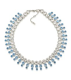 Carolee® Something Blue Crystal Collar Necklace