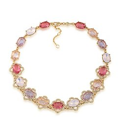 Carolee® Spring Bouquet Adjustable All Around Collar Necklace