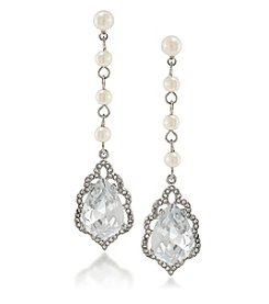 Carolee® Icing On The Cake Linear Drop Earrings