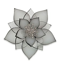 Carolee® Pin Me Resin Stacked Flower Brooch