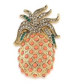 Carolee® Pin Me Pineapple Brooch