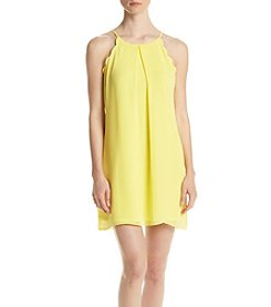 A. Byer Pleated Shift Dress