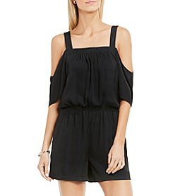 Vince Camuto® Cold-Shoulder Rumple Romper