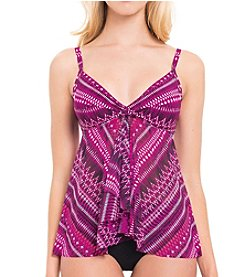 Profile by Gottex® Summer Sunset Flyaway Tankini Top