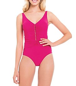 Profile by Gottex® V-Neck One Piece