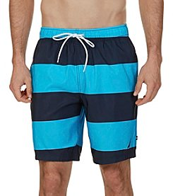 Nautica® Quick Dry Striped Swim Trunks