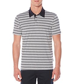 Perry Ellis® Pima Stripe Print Polo Shirt