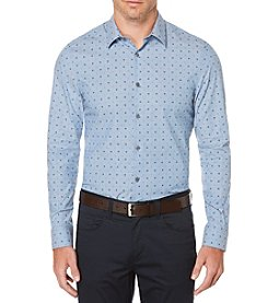 Perry Ellis® Chambray Mini Dot Button Down