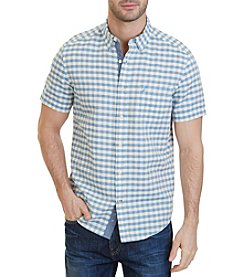Nautica® Men's Classic Fit Check Linen-Blend Shirt