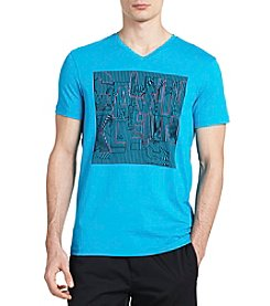 Calvin Klein Short Sleeve Solid Abstract Tee