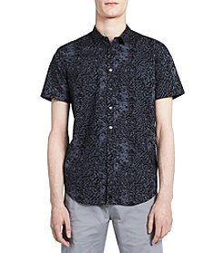 Calvin Klein Short Sleeve Fractured Graphic Button Down Shirt