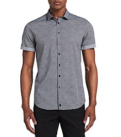 Calvin Klein Short Sleeve Art Printed Button Down Shirt