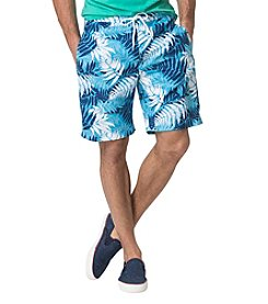 Chaps® Tropical-Print Swim Trunks