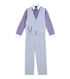 Steve Harvey Boys' 4-7 4 Piece Vest Set