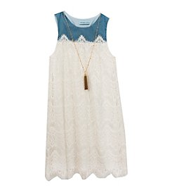 Rare Editions® Girls' 7-16 Scallop Lace Dress