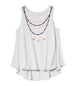 Jessica Simpson Girls' 7-16 Dip Dye Necklace Tank