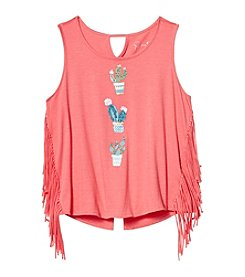 Jessica Simpson Girls' 7-16 Cactus Graphic Tee