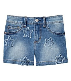 Jessica Simpson Girls' 7-16 Kiss Me Star Denim Shorts