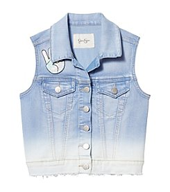 Jessica Simpson Girls' 7-16 Pixie Denim Vest