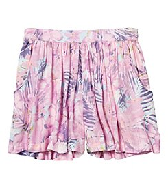 Jessica Simpson Girls' 7-16 Tropical Print Flippy Shorts