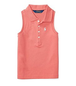 Polo Ralph Lauren® Girls' 5-6X Mesh Polo Shirt